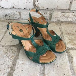 Teal Green Born Crown Sandals